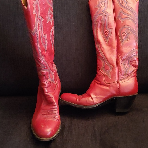 Tall Red Cowboy Boots | Poshmark